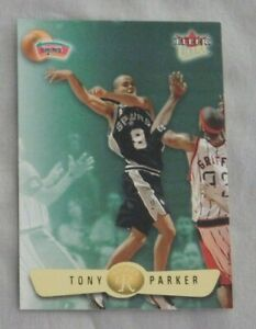 2001-02 Fleer Ultra /2222 Tony Parker San Antonio Spurs #177U Rookie