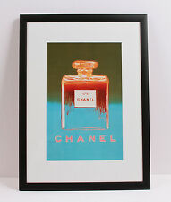 Chanel No 5 Andy Warhol 1997 Green/Blue Limited Edition Framed Print 15.50 x 21""