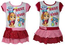 Vestiti estati rossi per bambine dai 2 ai 16 anni 100% Cotone