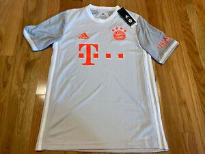 FC BAYERN Munchen 20/21 Away Soccer Jersey Size Youth XL Light Grey