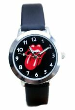 Rolling Stones Rock Band Tongue PU Leather Band WRIST WATCH