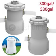 More details for swimming pool filter pump & cartridge for 8ft/10ft/12ft pool 300/530ga flowclear