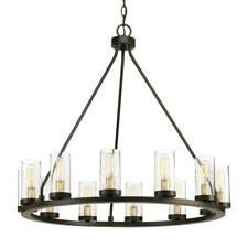 Progress Lighting Hartwell 26.63 in. 12-Light Antique Bronze Chandelier