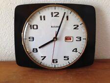 Horloge pendule FORMICA noire  VINTAGE  bayard   années  50's 60's