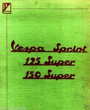 CD MANUALE OFFICINA+MANUTENZIONE+RICAMBI,PIAGGIO VESPA SUPER SPRINT 125-150 VLB1