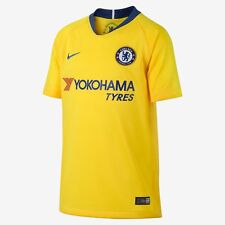 Men's 2018/19 Team Chelsea Football Club Away Yellow Stadium Jersey Soccer XXL