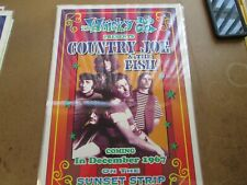 COUNTRY JOE & THE FISH WHISKEY A GO GO POSTER 1967 LAMINATED