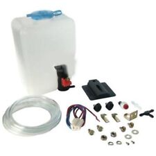 Universal Car Windscreen Washer Bottle Kit Pump Hose Jets Wiring Switch 12V by