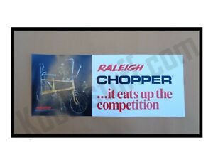 Raleigh Chopper Bicycle Window Banner / Poster  * 1960's Bike