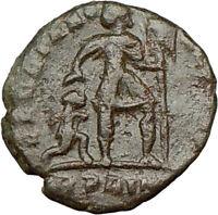 VALENTINIAN I 367AD Ancient  Roman Coin CHI-RHO Christ Emblem Labarum  i16388