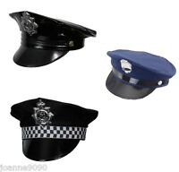 Adult Policeman WPC Police New York Cop Panda Fancy Dress Costume Outfit Cap Hat