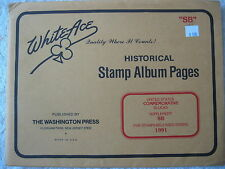 "1991 WHITE ACE STAMP ALBUM SUPPLEMENT "" SB "" USA COMMEMORATIVE BLOCKS"