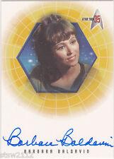 STAR TREK THE ORIGINAL SERIES 35TH ANNIVERSARY A26 BARBARA BALDAVIN AUTOGRAPH