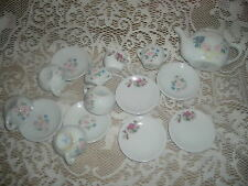Child's Porcelain China Tea Set - complete set of 12 with 4 extra pieces