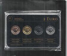 Italien 2 € Prestige Metal Coinset, Gold, Platin, Ruthenium, Neu, OVP, SELTEN