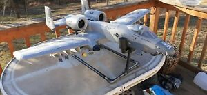 E-flite A-10 Thunderbolt II 64mm EDF (work) transport stand , carbon fiber look