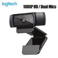 Logitech C920 HD Pro Webcam USB HD Web Camera 1080P Video Chat Recording Cam UK