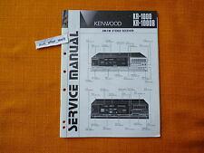 SERVICE MANUAL Kenwood KR 1000 1000B english 1983 Anleitung hifi Schaltplan