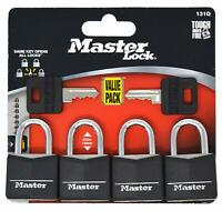 keyed alike x 6 Master Lock MLK140SIX laiton massif 40mm cadenas 4-Pin