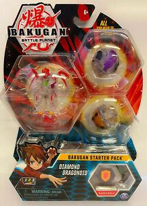 BAKUGAN Starter 3 Pack Action Figure - Diamond Dragonoid