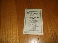 APRIL 1958 SOUTHERN PACIFIC SAN FRANCISCO-LOS GATOS PENINSULA PUBLIC TIMETABLE