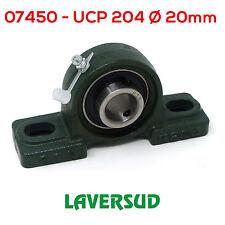 UCP 204 Supporto Ritto in Ghisa /Ø Diametro 20mm Autoallineante con Cuscinetto UCP204