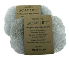 Soap Lift for Bar Soap Crystal Set of 2 Eco Friendly Bio Plastic USA Shower Sink