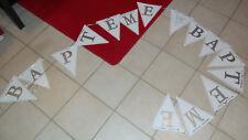 Guirlande banderole bannière baptème