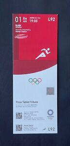 Tokyo 2020 Athletics day three August 1st unused ticket Mint RARE