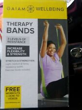 Gaiam Therapy Bands Strength and Flexibility 3 Levels of Resistance New Nib