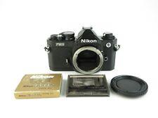 Nikon fm2n Noir Black SLR Reflex avec piles et Body Cap