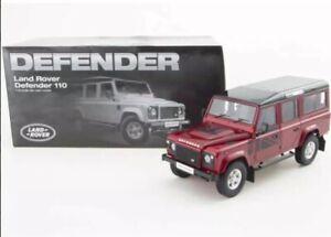 1:18 Land Rover Defender 110 Dorlop LWB Red RHD Detailed Diecast Model