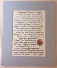 BASKETBALL PLAYERS PRAYER Court Dribble Pass SPORTS Teamwork verses poem plaques