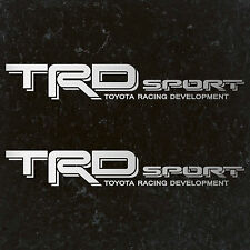 "TOYOTA TACOMA TRD SPORT DECALS STICKERS (2) 18""X3"" DECALS SILVER"