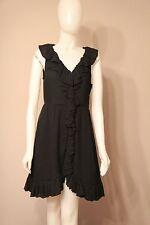 Marc by Marc Jacobs 100% Silk Black Dot Ruffle Dress size 8
