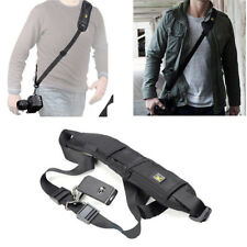Black Single Shoulder Sling Belt Strap For DSLR Digital SLR Camera Quick Rapid