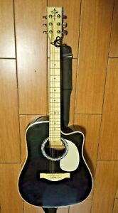 Esteban American Legacy Black Signed VL-100 Acoustic Electric Guitar