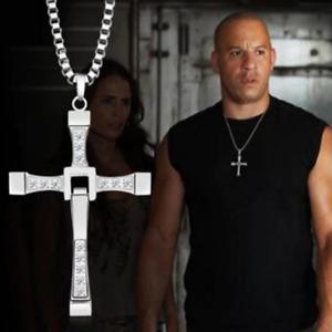 Collana Croce Dominic Toretto Fast And Furious Ciondolo Vin Diesel Argento