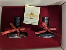 "Baldwin Brass Pair of 3"" Candle Sticks Venetian Bronze! New In Box! 7281-112"