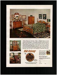 1950 Heywood-Wakefield Old Colony Original Print Ad ~ Free Ship~ MCM Mid Modern