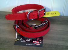 Gooby Luxury Dog Collar and Leash Set Small Breed Large