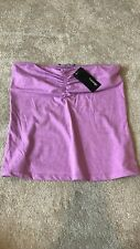 Ladies size 10 purple bandeau top ruched sleeveless elasticated summer casual