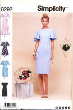 SIMPLICITY SEWING PATTERN 8292 MISSES SZ 14-22 DRESS & MAXI W/ SLEEVE VARIATIONS