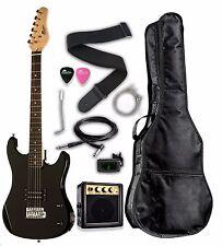 "Raptor 3/4 Scale 36"" Kid's Starter Electric Guitar Pack - Black w/ Free Tuner"