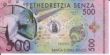 BANCA D'SIMA SENCO BILLETE 500 SENZA FANTASIA