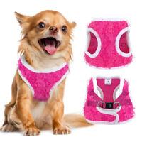 Girl Dog Vest Harness Fancy Flower Decoration Pet Walk Collar Small Medium Pink