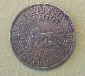Trade Token Australia - 1860 AG Hodgson Penny
