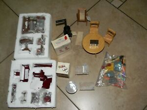Miniature Doll House Resin Musical Instruments + Wood Bed Room Dining Furniture