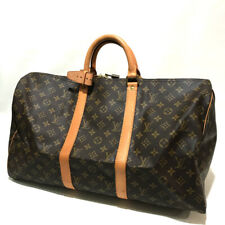 AUTHENTIC LOUIS VUITTON Monogram Keepall50 Duffle Bag Brown Monogram M41426