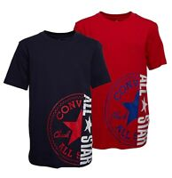 Boys Converse Printed Top Short Sleeve Jersey T Shirt Sizes Age from 8 to 15 Yrs